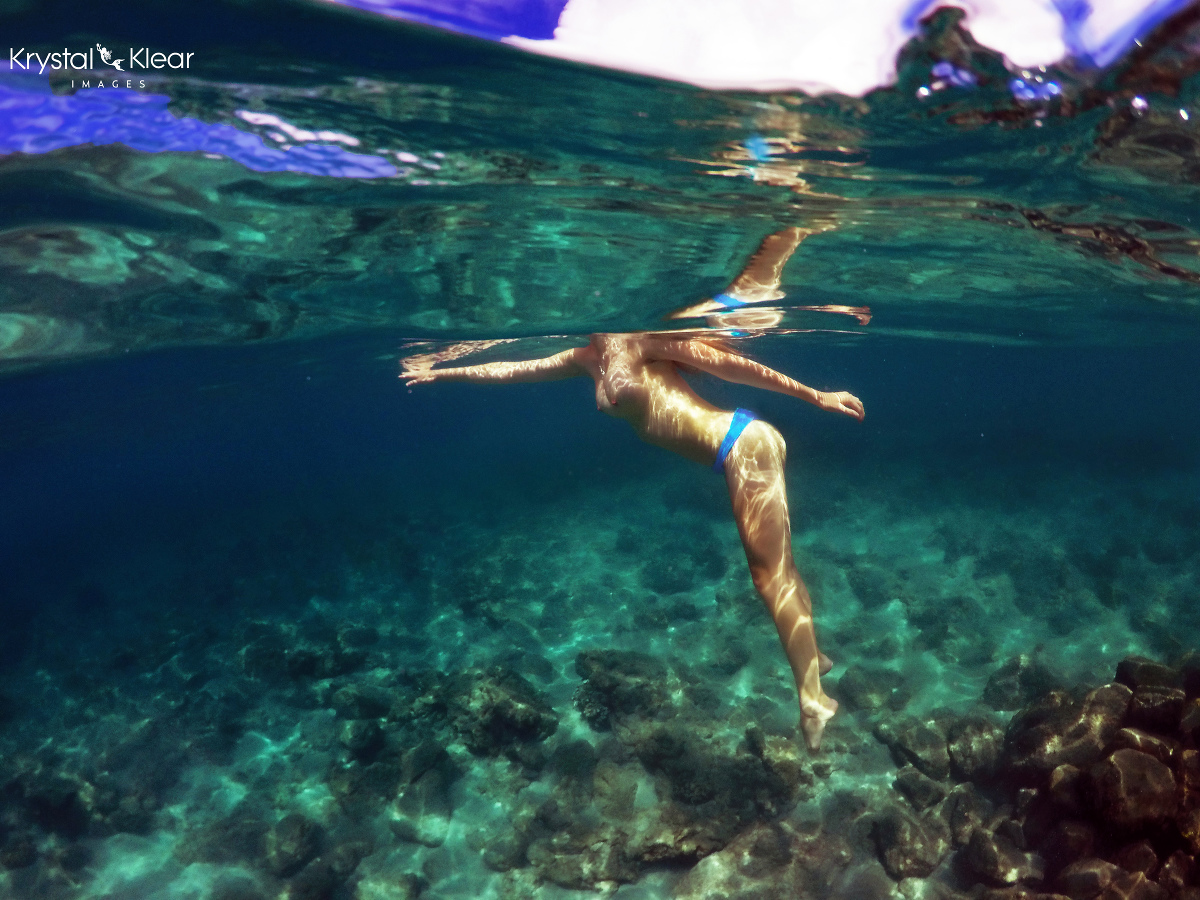 Nude underwater photography have faced